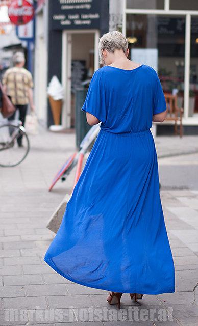 lady in blue - amsterdam