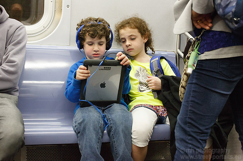 ipad kids - nyc Underground