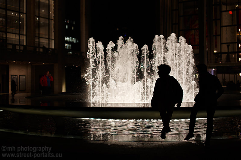 water contrast - josie robertson plaza lincoln center nyc