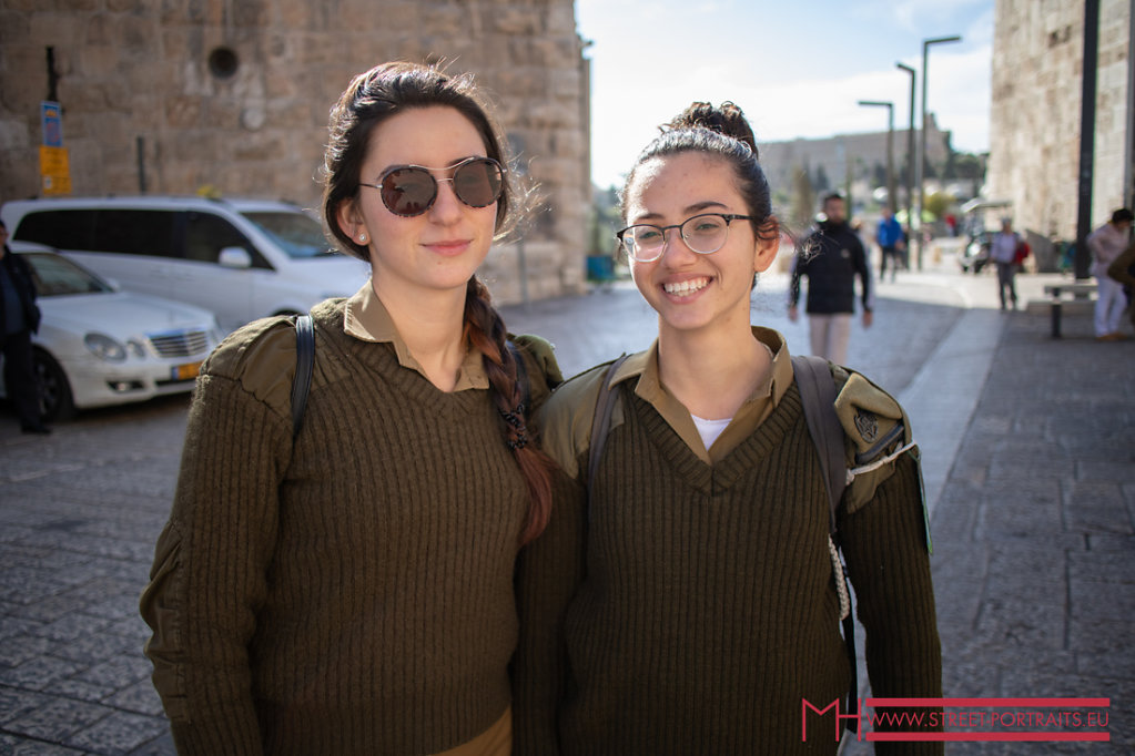 Two soldiers Iasked for a portrait in Jerusalem